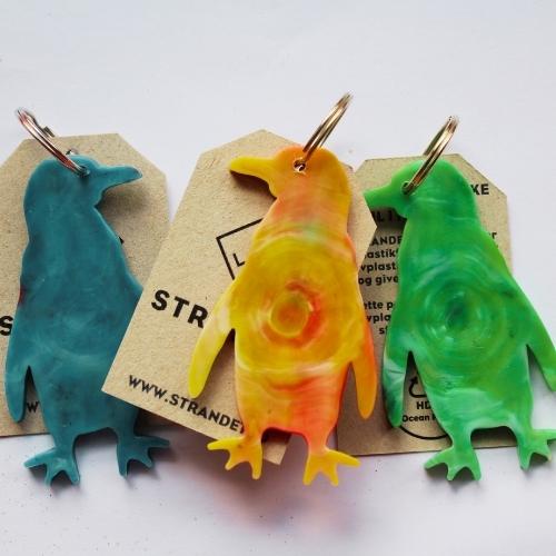 Pingvin nøgleringe i flotte farver